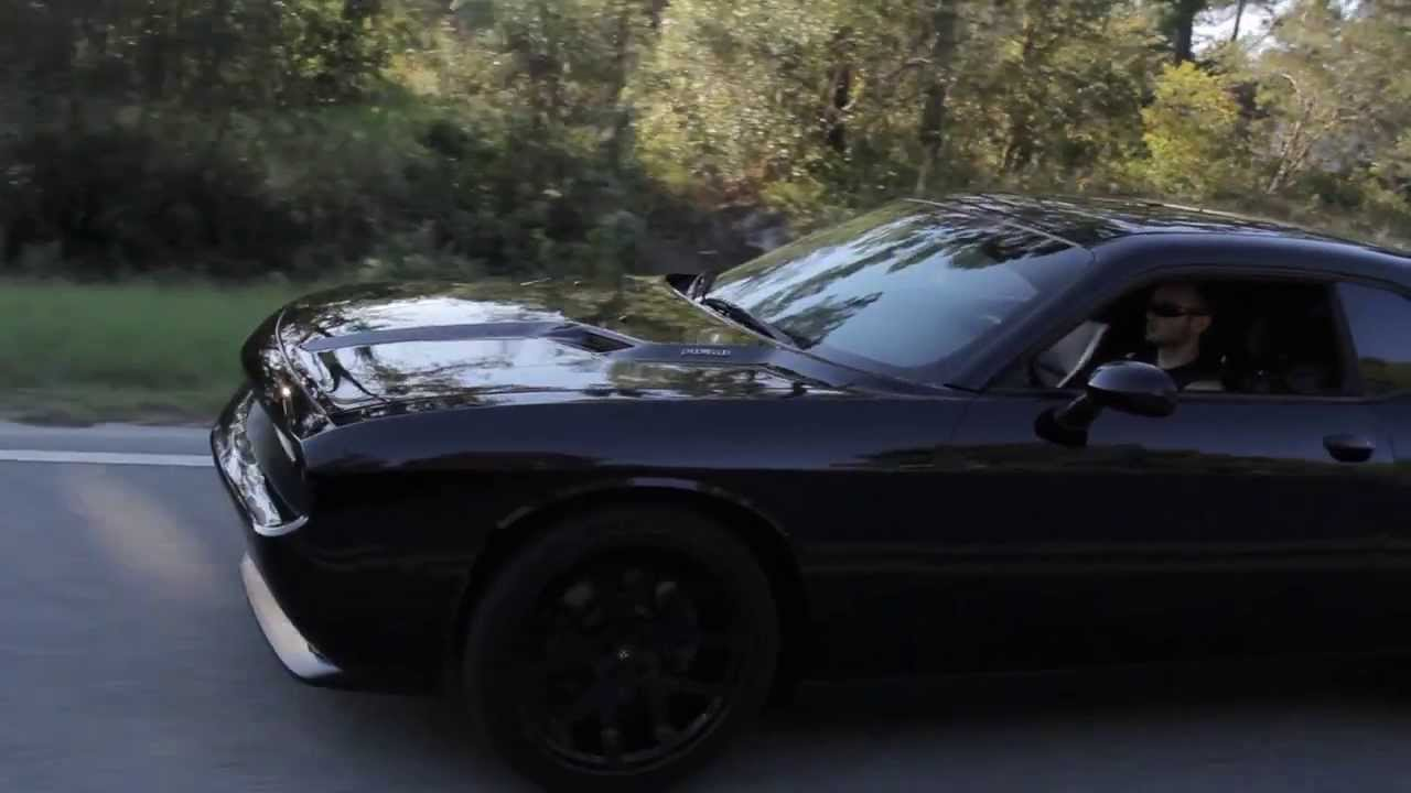 VADER Blacked Out Dodge Challenger RT - YouTube