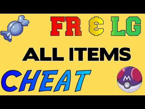 Pokemon Fire Red + LG ALL Items Cheat (Gameshark)