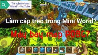 cách làm cáp treo trong Mini World! - Thí nghiệm Mini World™