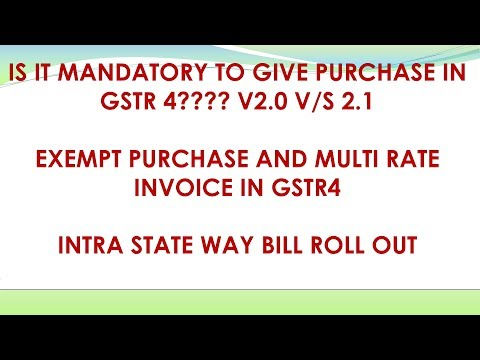 GST: GSTR4 V2 1 HOW TO GIVE PURCHASE DETAILS| MULTI RATE