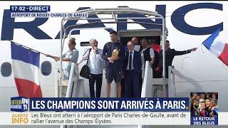 Les champions du monde avec Lloris en tête sont arrivés à Paris