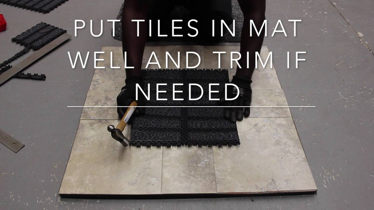 Viking tile mat well installation youtube viking tile mat well installation dailygadgetfo Gallery