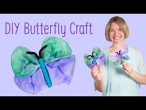 Paper Butterfly | Art and Craft for Kids