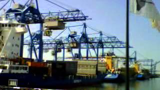 Cargo operation at RST South. Samskip Innovator, Samskip Courier and Samskip Express