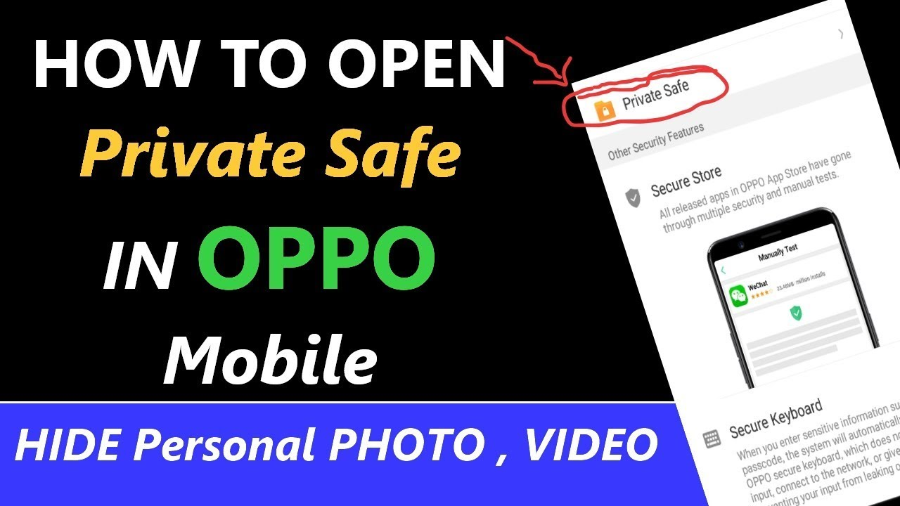 How to Open Private Safe in Oppo Mobile | Unlock File Safe in Oppo Mobile