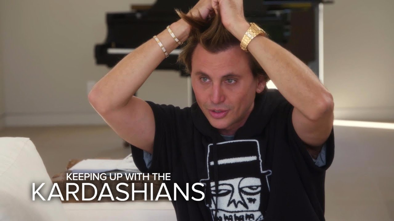 KUWTK | Kim Kardashian West Grills Friend About His Hair | E!  #Trend