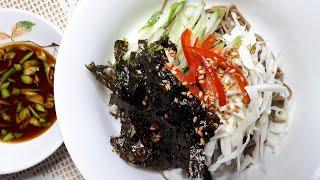 밀가루 없는 메밀국수 요리~ 메밀비빔국수 만드는법ㅣ금체…