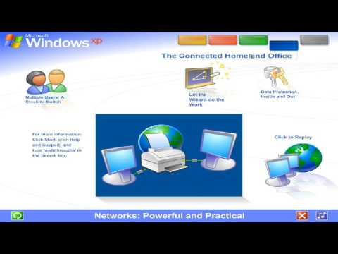 Windows xp tour connected home and office