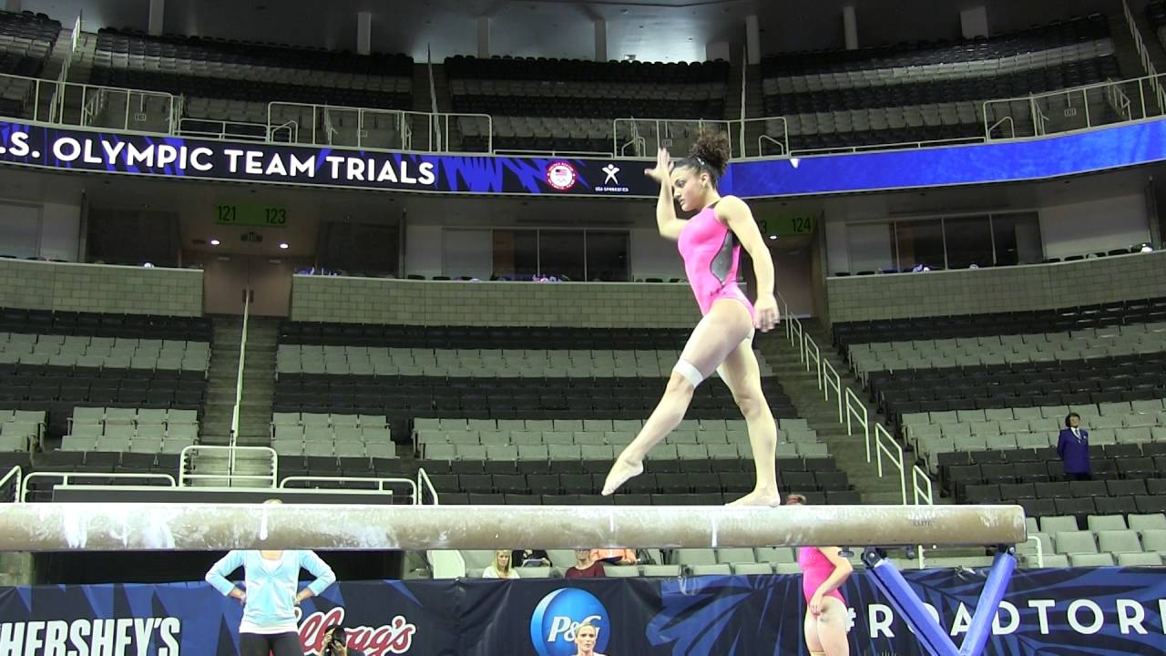 laurie hernandez balance beam us olympic trials podium training youtube