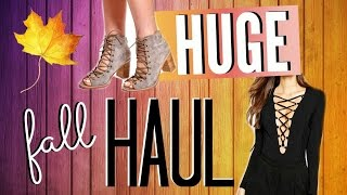 HUGE Fall Clothing Haul & Try On! Windsor, Jeffrey Campbell, Steve Madden