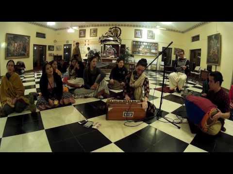 Dhanya Chants Hare Krishna After Alachua Sunday Feast