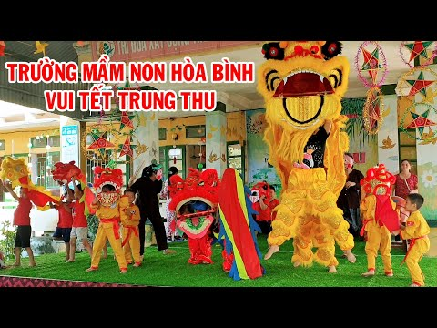 Cô giáo Múa Lân, Trường Mầm Non Hòa Bình múa sư tử, vui tết trung thu 2020