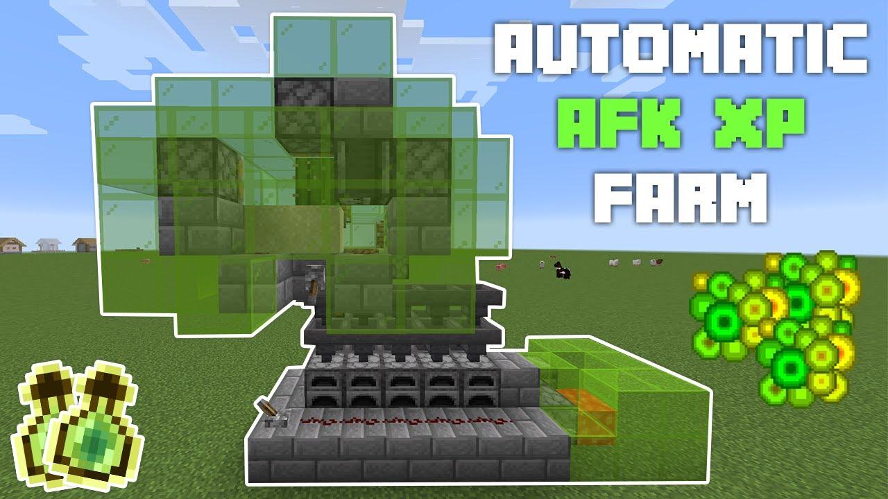 Minecraft AUTOMATIC XP Farm (UNLIMITED FREE XP) 122.1224/122.1225+