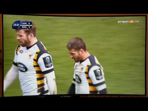 Wasps dropped ball try v Leinster 1/4/17