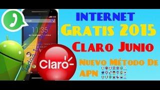NUEVO INTERNET GRATIS/COLOMBIA/ANDROID 2015 JUNIO/CLARO/APN+CONFIGURACION PARA QUE SIRVA WHATSAP/