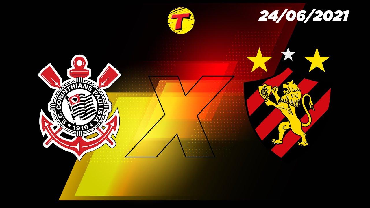 [AQUI TEM PRÊMIO] Corinthians X Sport - Brasileirão AO VIVO - 24/06/21 #TransaméricaEsportes