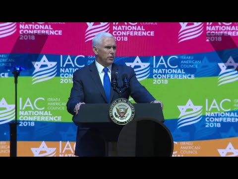'We stand with Israel,' Pence says during South Florida visit