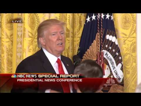 Pres Trump Press Conference (Feb 16 2017)  Questions