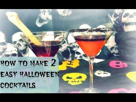 2 easy halloween cocktails