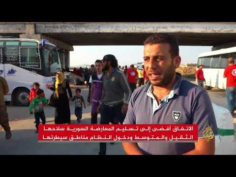 الجزيرة توثق وصول الدفعة الأولى من مهجري القنيطرة لإدلب  - نشر قبل 3 ساعة