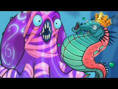 Морские животные: медуза, осьминог, черепаха, синий кит