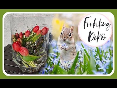 FRÜHLINGSDEKO im Glas mit Tulpen selber machen I DIY Deko Idee KatisweltTV I Frühlingsdekoration