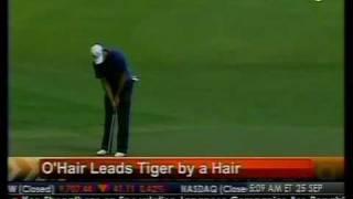 O'Hair Leads Tiger By A Hair