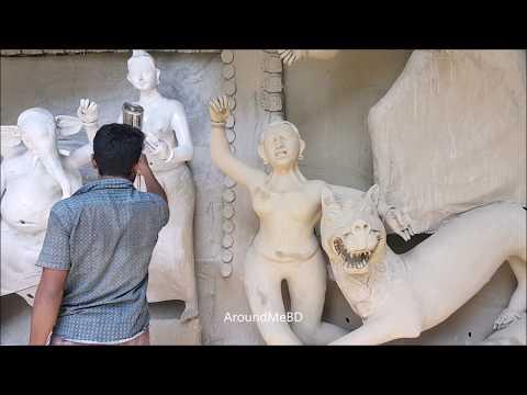 Making Durga Devi | Durga Puja | How To Build Durga Temple? Festival Of Hindu