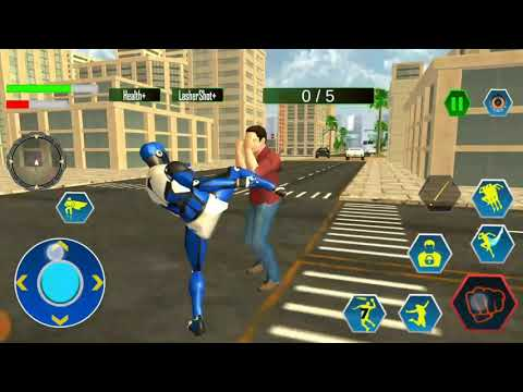 Police Robot Speedster: Cop Robot hero flash games