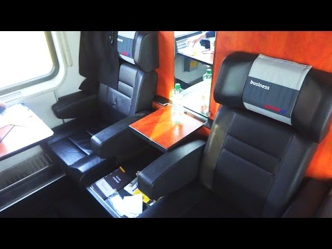 Inside RegioJet Business Class Poprad Tatry - Praha hl.n. (EuroCity Train EC 1010)