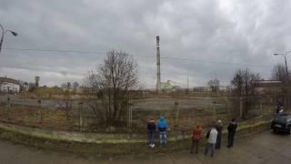 Wyburzenie komina Kwidzyn 2017