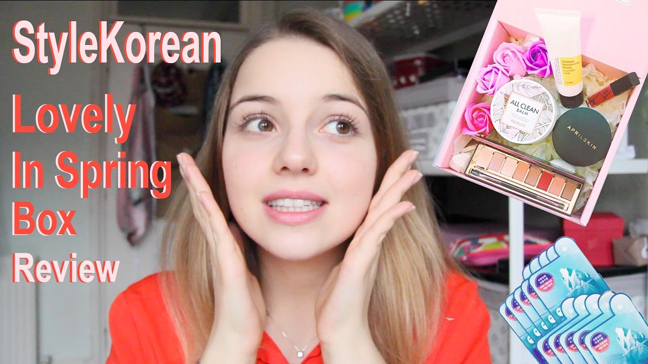 k beauty review stylekorean love in spring box youtube. Black Bedroom Furniture Sets. Home Design Ideas