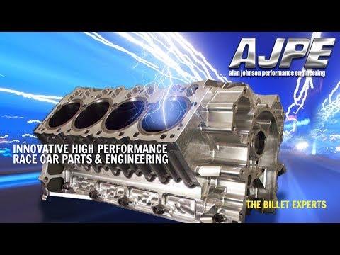 AJPE Billet Aluminum 481x HEMI Block and Stage 4 Cylinder Heads at PRI 2017