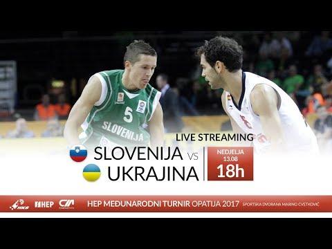Slovenija vs. Ukrajina - HEP Međunarodni turnir Opatija 2017 (M) - UŽIVO