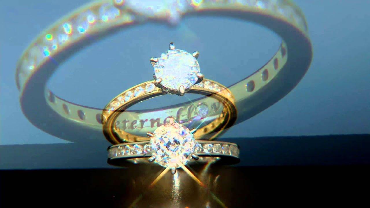 """Diamonique 100 Facet 2 05 cttw """"Eternal Love"""" Ring 14K Gold on"""