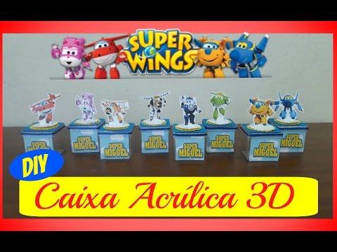 SUPER WINGS - PASSO A PASSO CAIXA ACRÍLICA 3D - Taisa Alves