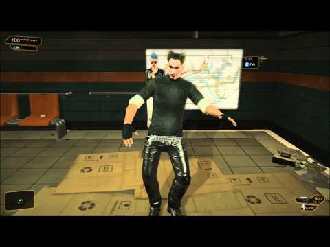 Deus Ex H.R. - Adam Jensen challenged to dance off, Wins