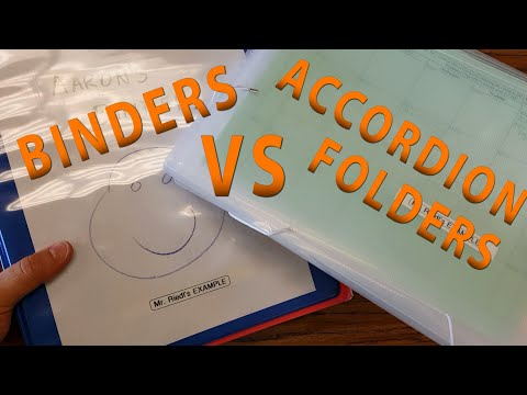 Binders VS Accordion Folders - Mr. Riedl