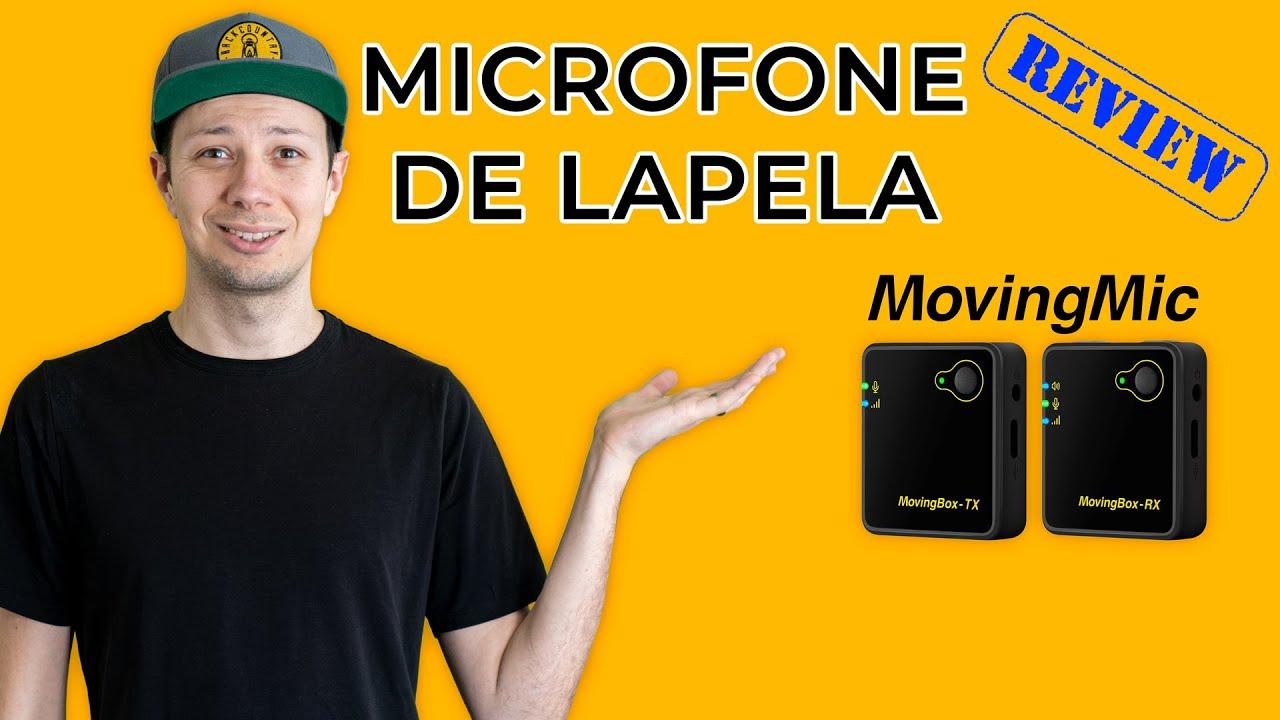 MICROFONE DE LAPELA MOVING BOX - Microfone Barato para Celular, Vídeo, Podcast, Home Studio e Música