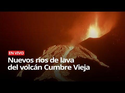 Nuevos ríos de lava del volcán Cumbre Vieja, en La Palma