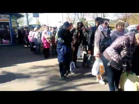 Очереднь на 258 автобус М.Лесная - Северное Кладбище 23.04.17