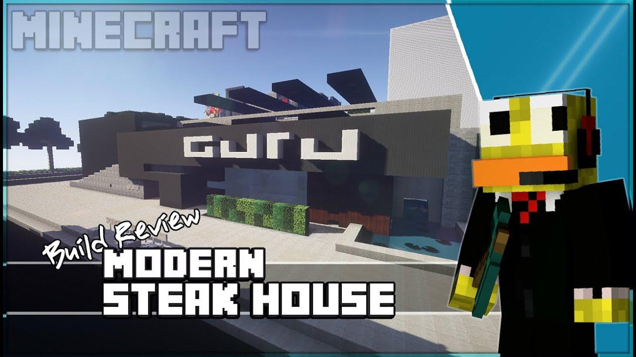 Minecraft Modern Steak Restaurant  Build Review  Youtube
