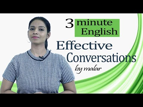 3 Minute English #127 - Effective Conversations  -  Learn English With Kaizen Through Tamil