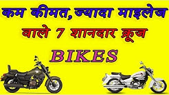 Top Cruiser Bikes in India with Low Price Long Riges and Great Mileage