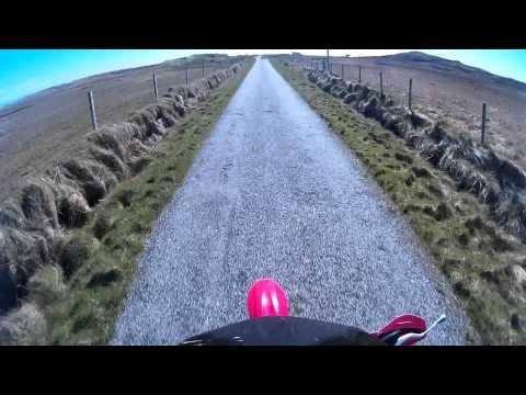 Honda CRF 100 dirt bike short ride