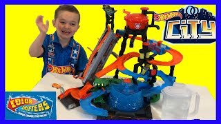 Hot Wheels Ultimate Gator Car Wash Color Shifter Fun Toy Unboxing with Three Beans Playtime