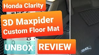 3D Maxpider KAGU - Custom Floor Mats For 2018 Honda Clarity! Review And Unboxing!!!