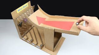 How to Make Steel Marble Game from Cardboard