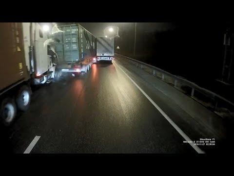 Момент ДТП 27.11.2019 на ленинградском шоссе в сторону Москвы