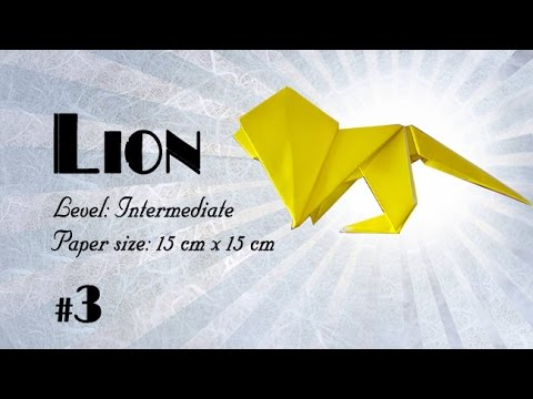 Origami Tutorial - How to fold Easy Origami Lion step-by-step - DIY